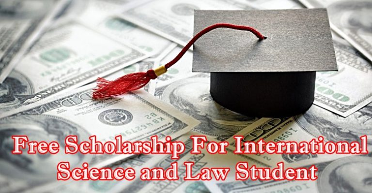 Germany Free Scholarship For International Science and Law Student