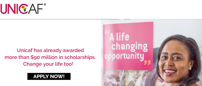 All Unicaf Scholarships Form Image
