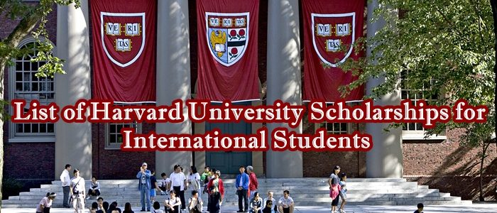 Harvard University Scholarships for International Students image