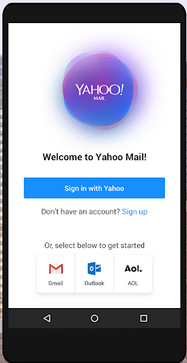 Yahoo mail for mobile image