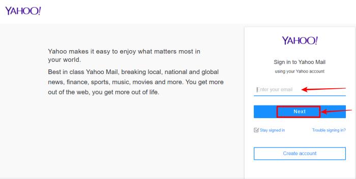 log into Yahoo image 1