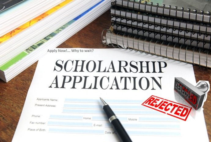 image showing Scholarship Application Rejected
