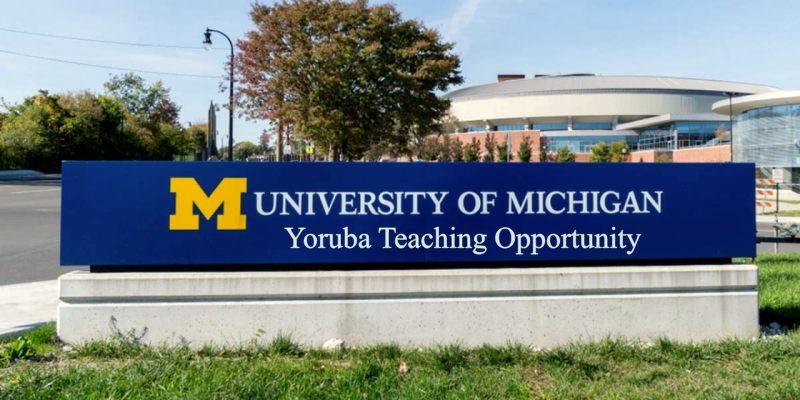 Yoruba Teaching Opportunity at the University of Michigan